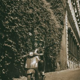 Highlights of Rome riding a Vespa during a Private Vespa tour by Rome in a day tours